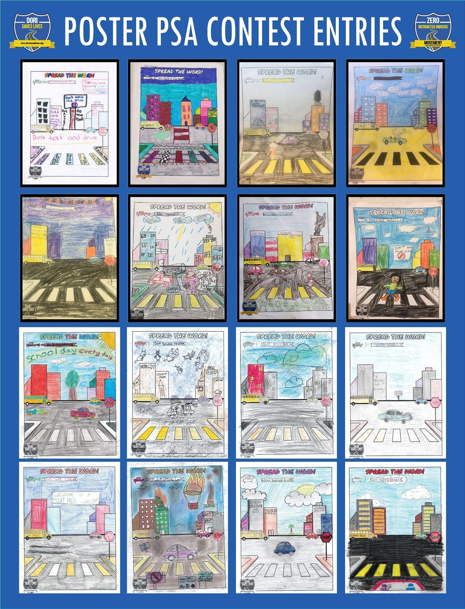 Poster PSA Entries 1-16