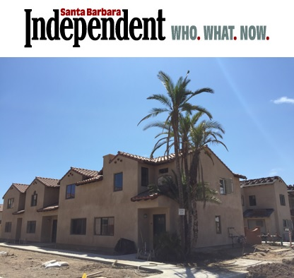 Decades-Old Carpinteria Palms Replanted at Affordable Housing Development - Santa Barbara Independent