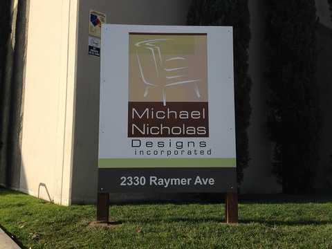 Signs for relocating business in Orange County