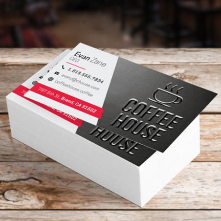 Raised Spot UV Business Cards (Spot UV front only)