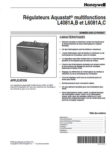 Regulateurs Aquastat Multifonctions