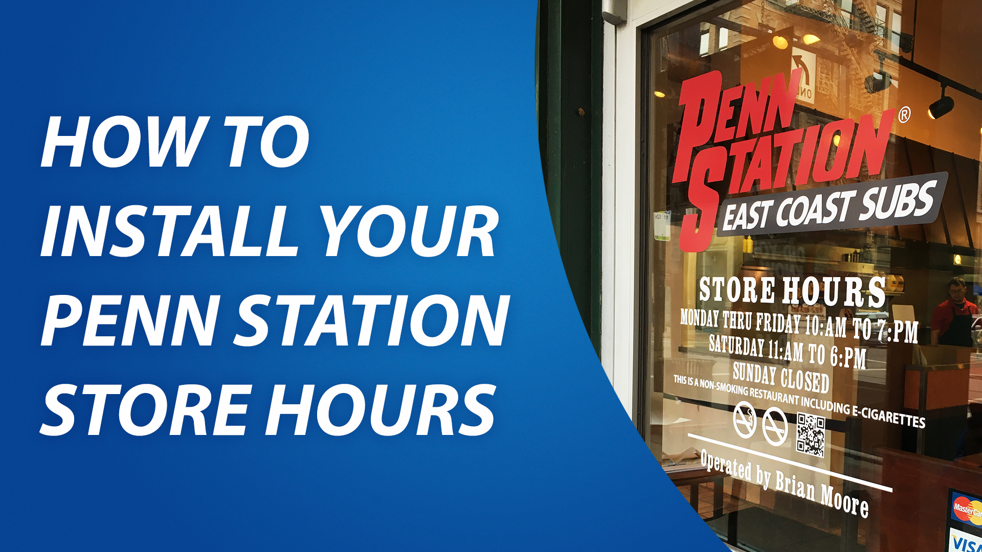 How to Install Store Hours Window Graphics