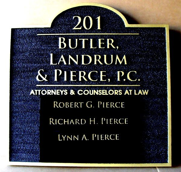 A10650 - Wooden Law Office Address and Directory Sign, with List of Attorneys