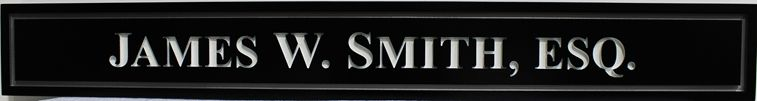 A10491 - Engraved engraved HDU Sign for James W. Smith, Esq