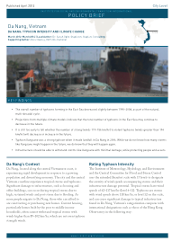 Da Nang, Vietnam: Typhoon Intensity, and Climate Change (Policy Brief)