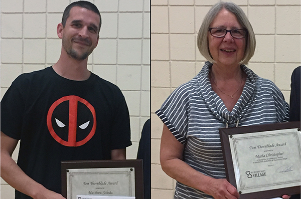 Matthew Schulz, Marla Christopher honored with Tom Thornblade Award