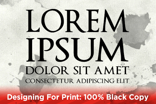 Designing For Print: 100% Black Copy