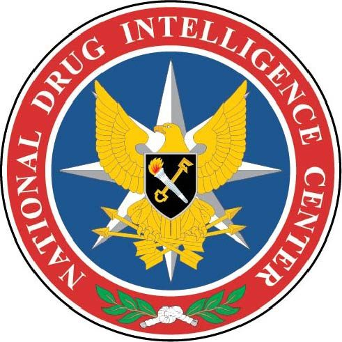 U30430 -  Carved 3-D Wall Plaque of the National Drug Intelligence Center Seal