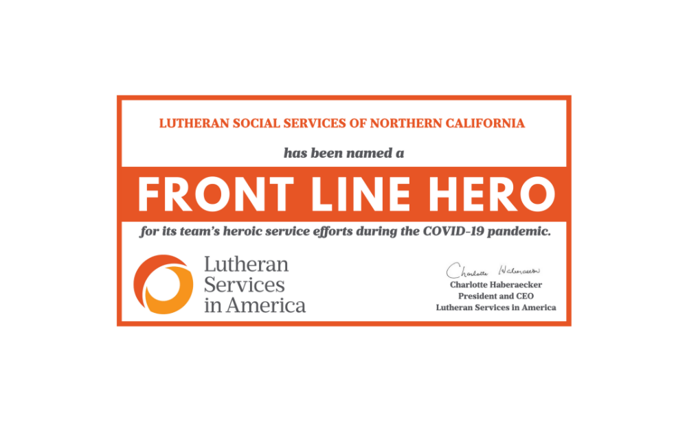 Front Line Hero Certificate
