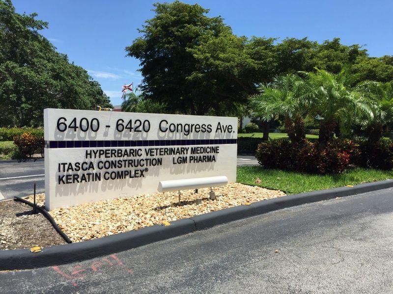Office Building Monument Sign rebranding - Sign Partners Boca Raton