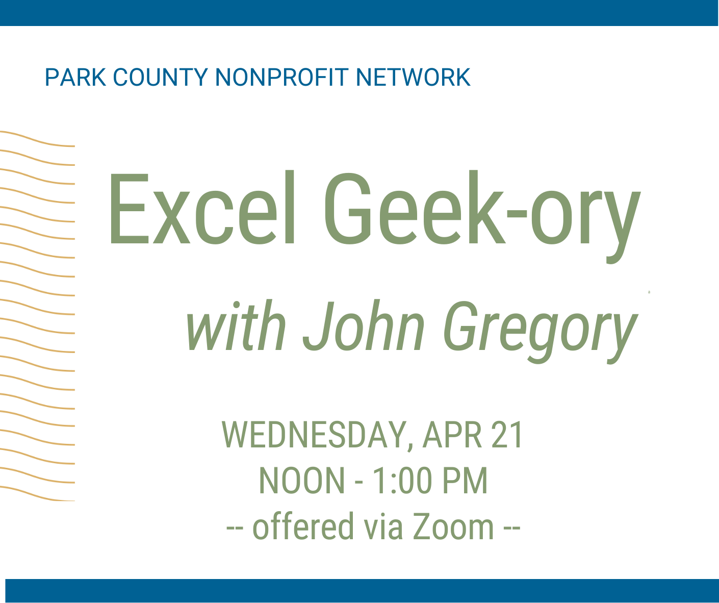 Excel Geek-ory with Gregory