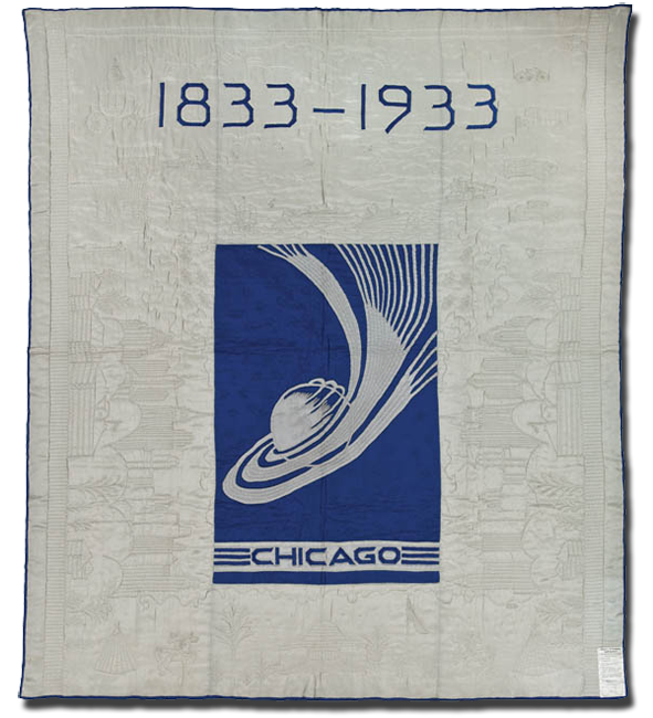 Original, A Century of Progress, Made by Ida Stow, Made in Chicago, Illinois, United States, Dated 1933, 91.5 x 76   in, IQSC 1997.007.0947