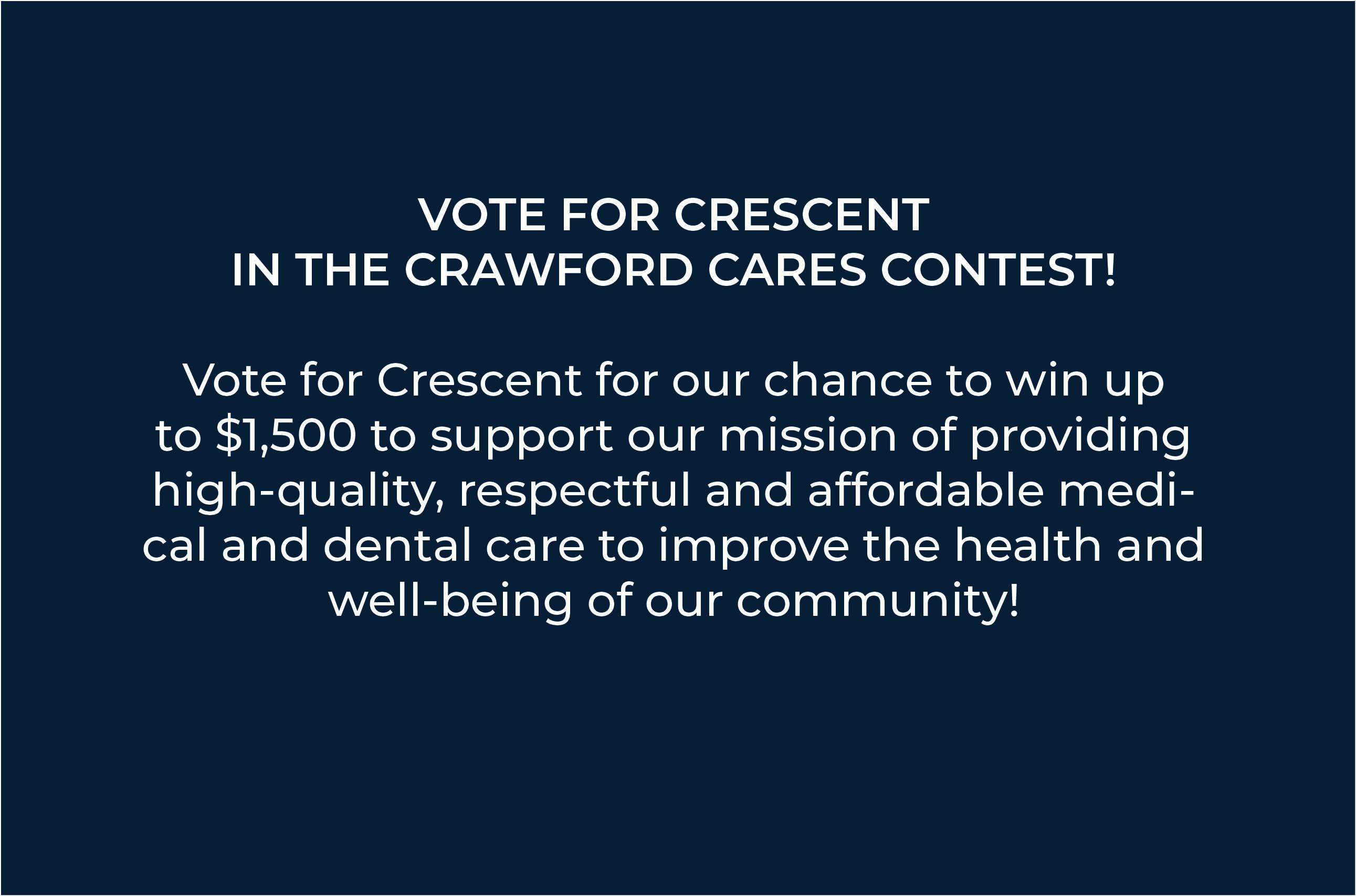 Vote for Crescent!