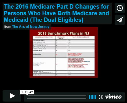 The 2016 Medicare Part D Changes for Persons Who Have Both Medicare and Medicaid (The Dual Eligibles)