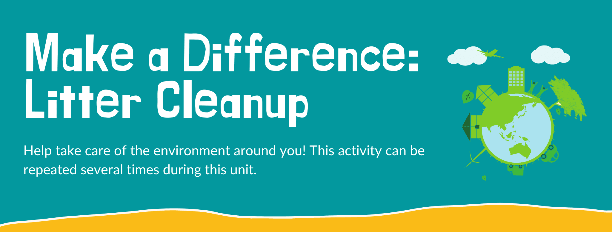 Make a Difference: Litter Cleanup