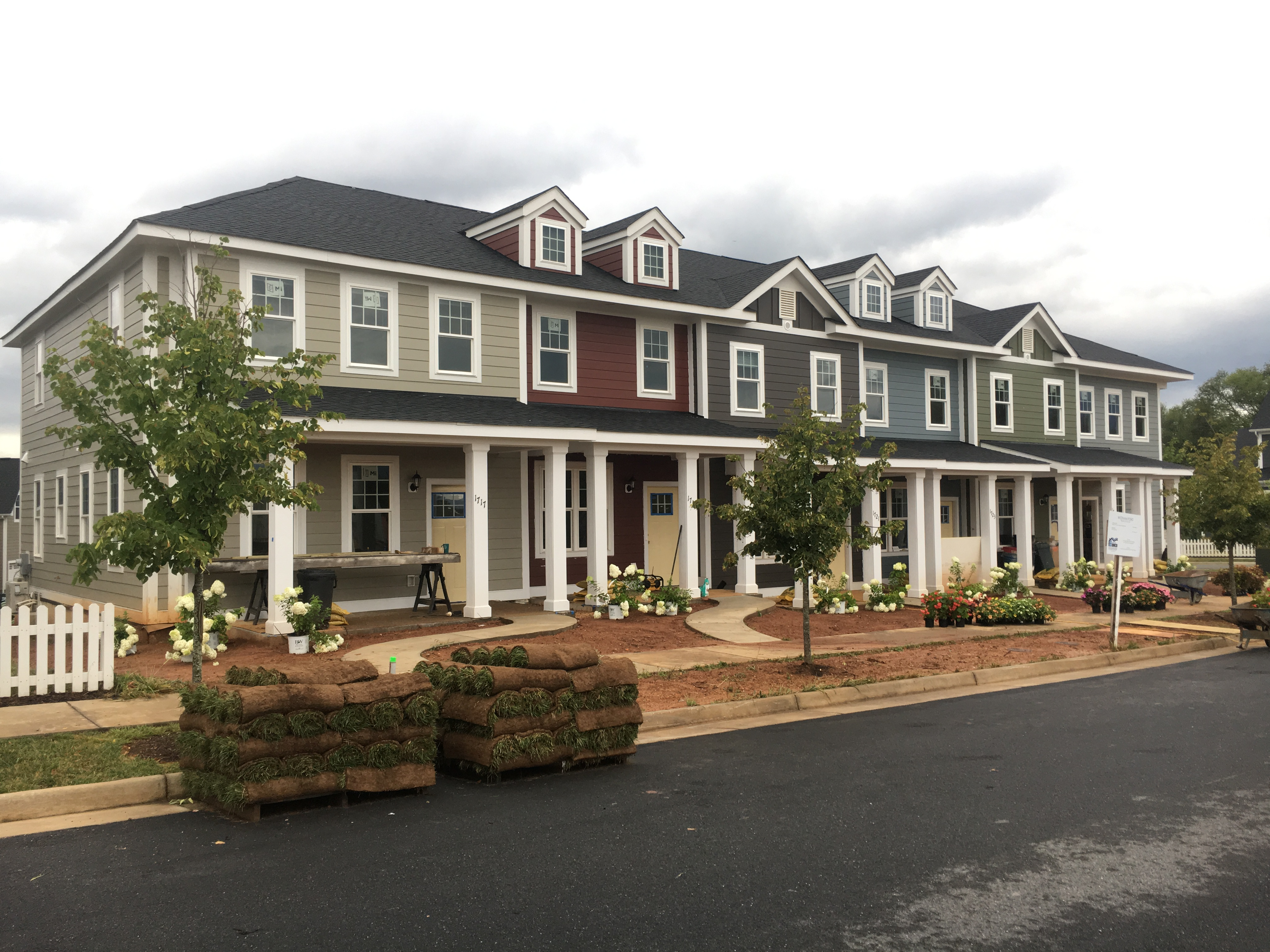Habitat homes at Wickham Pond in Crozet