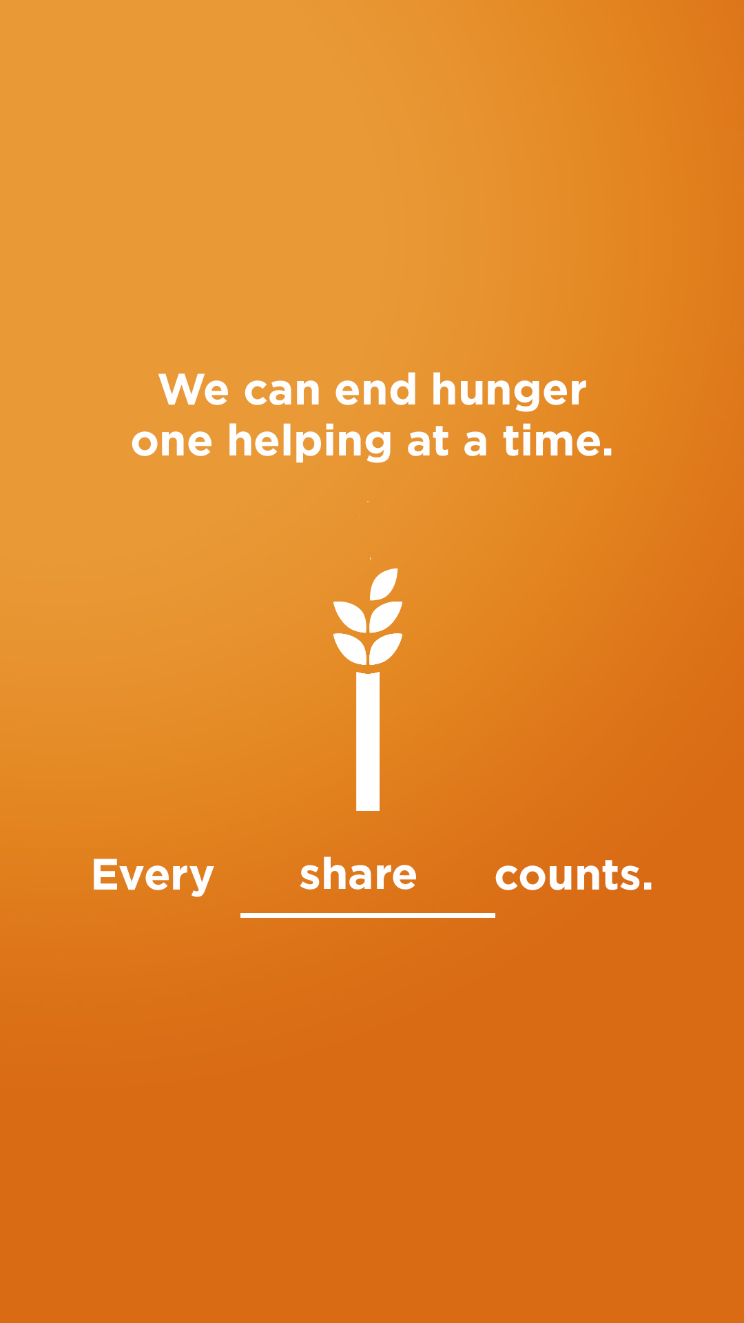We can end hunger - share
