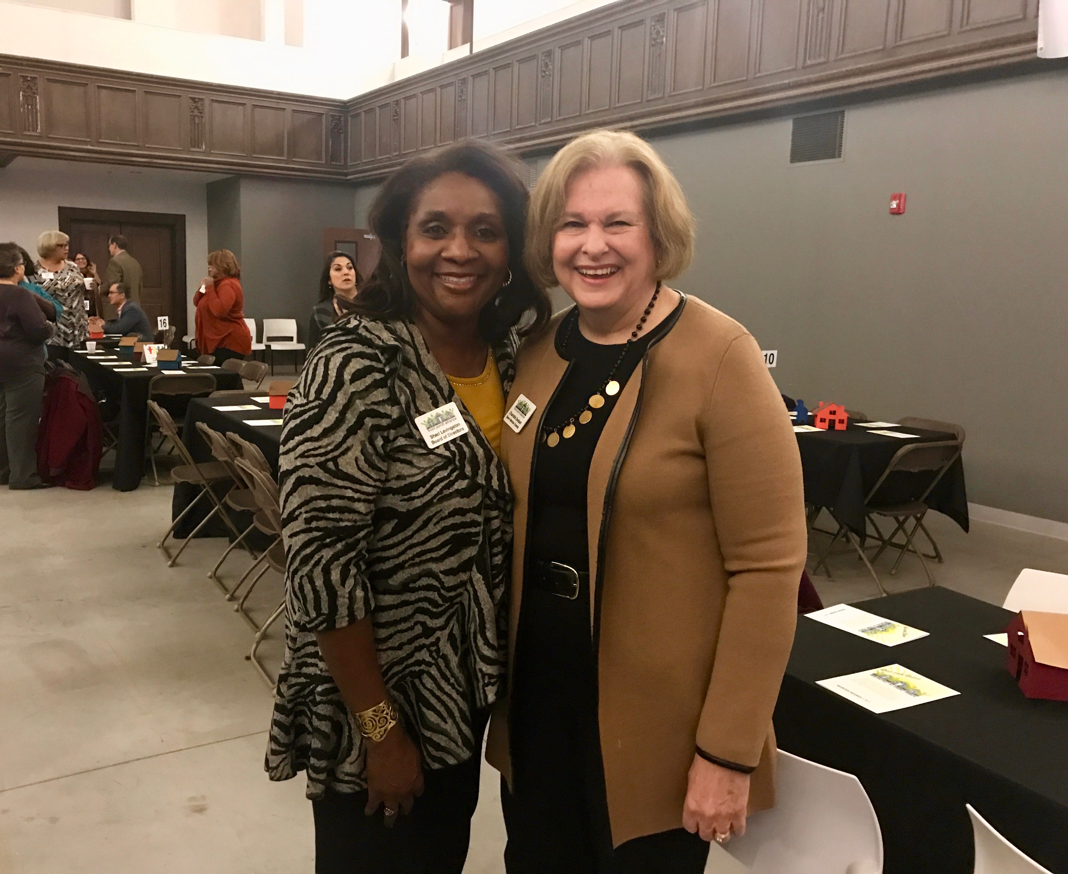Board members Sheri Levingston and Charlotte Davison at the Rise and Shine Breakfast.