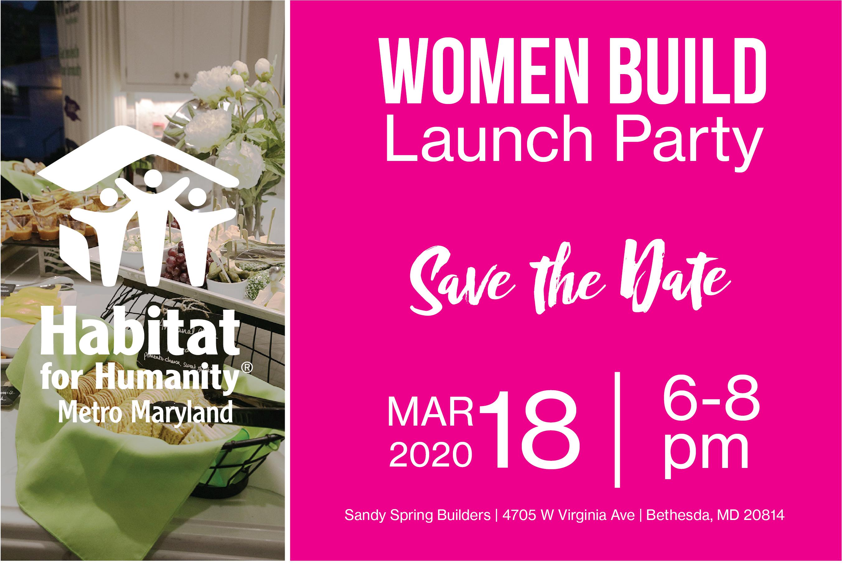 Women Build Launch Party