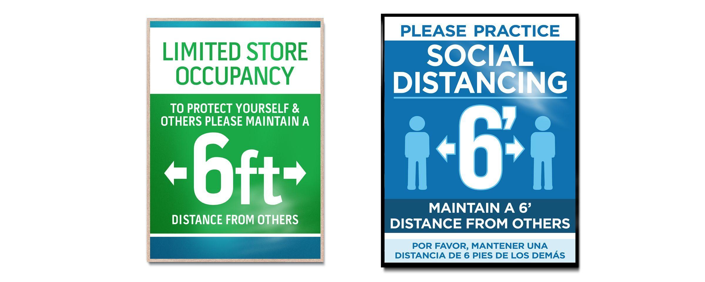 Social Distancing Printing & Signs