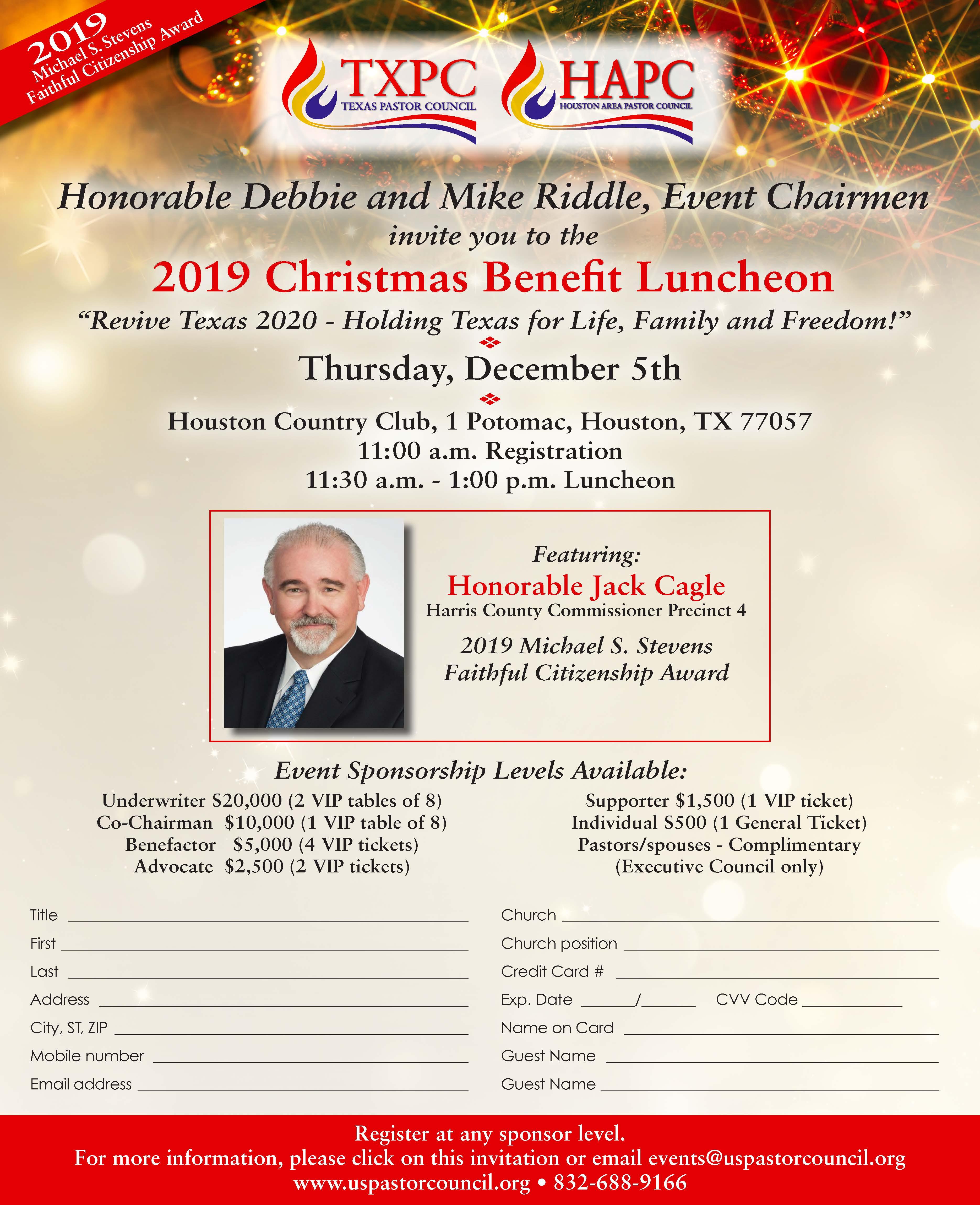 2019 TXPC/HAPC Christmas Benefit Luncheon