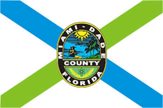 X33326 -  Flag & Seal of Dade County, Florida