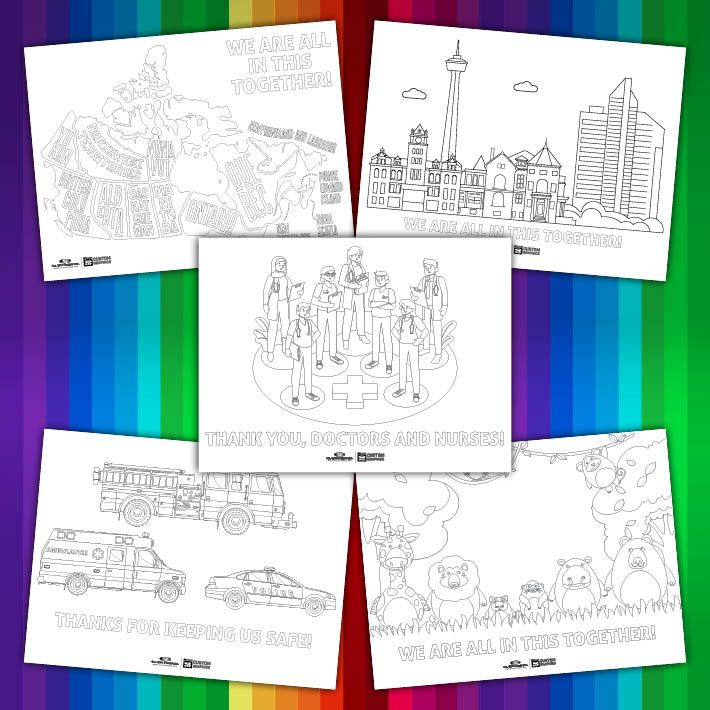 OCP Large Colouring Sheets Order