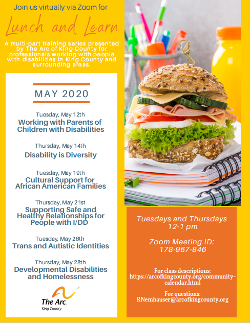 Lunch and Learn: Developmental Disabilities and Homelessness