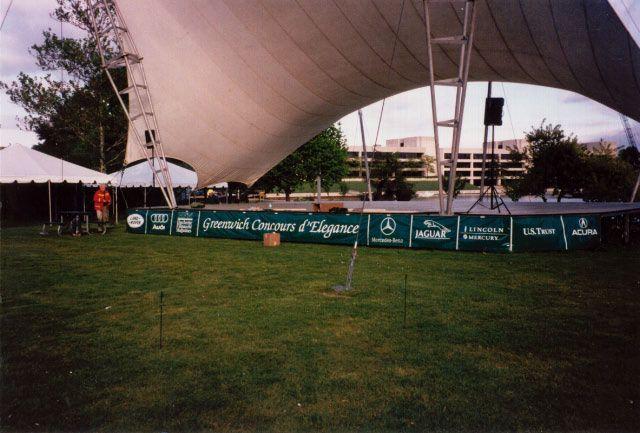 Outdoor event banner