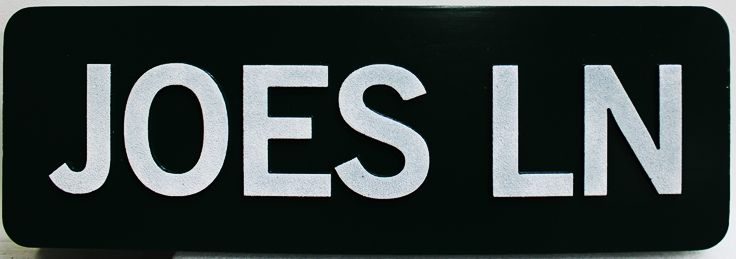 H17083 -  Carved HDU Street Name Sign, Joes Lane