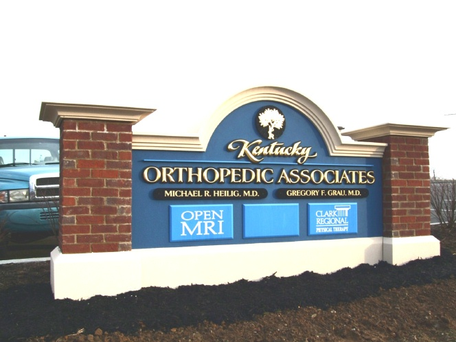 B11000 - Large Monument Sign for Orthopedic Surgeon Practice