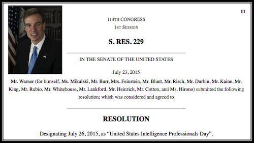 <b>United States Intelligence Professionals Day</b>
