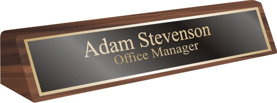 Desk Name Plates Personalized