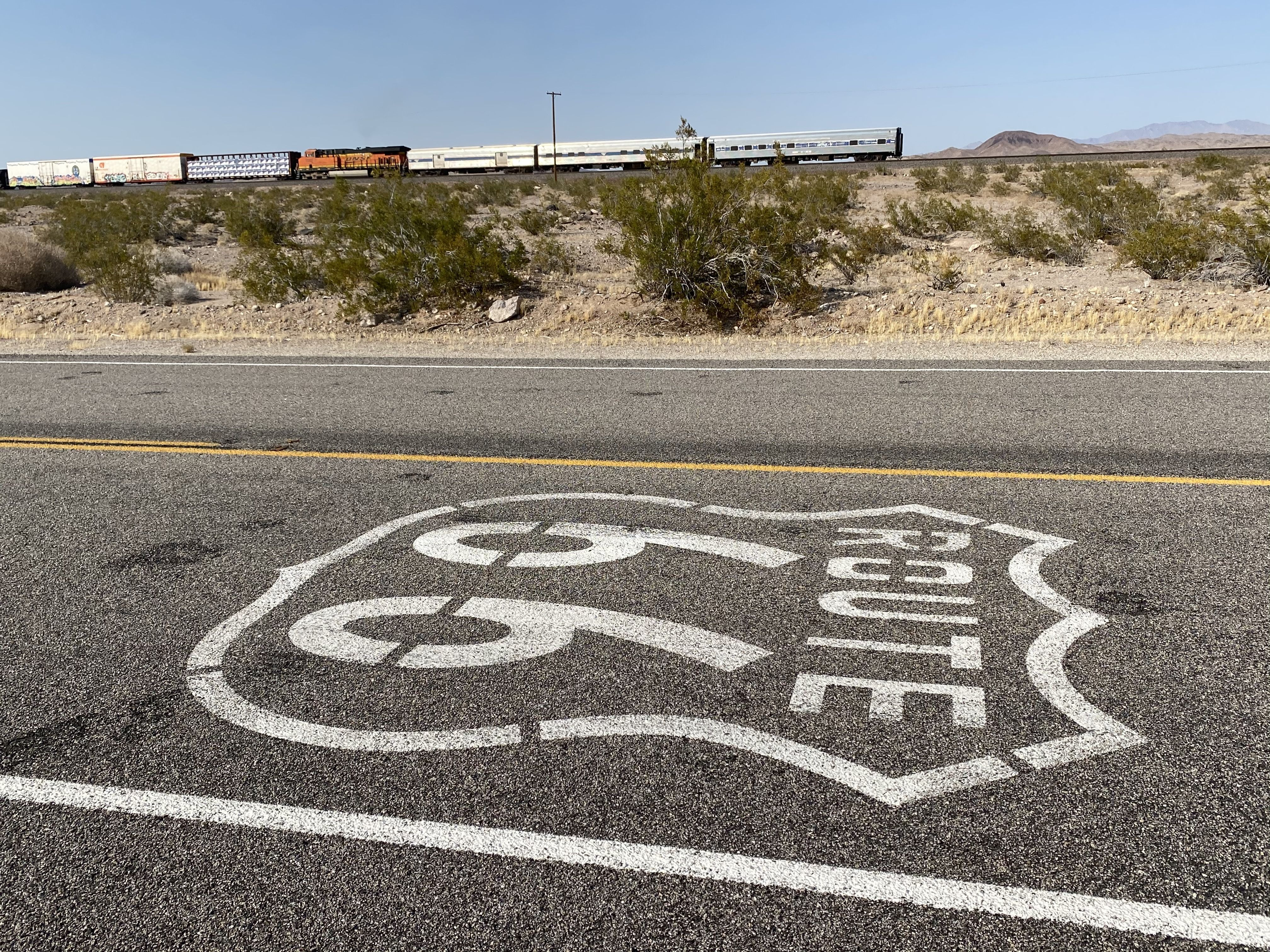 Support Railcars Along Route 66