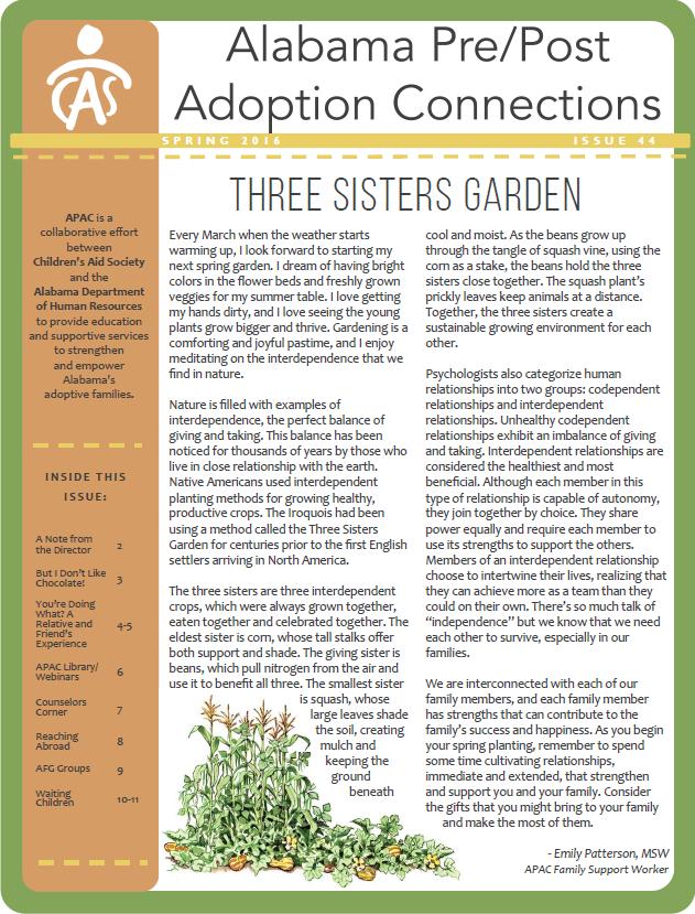 APAC Newsletter Spring 2016