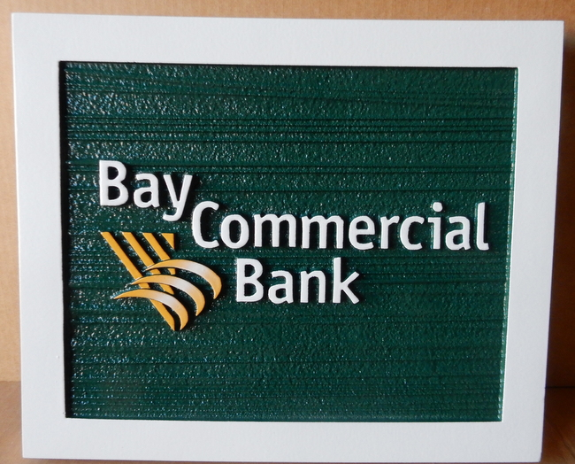 C12211 - Carved Bay Commercial Bank Sign
