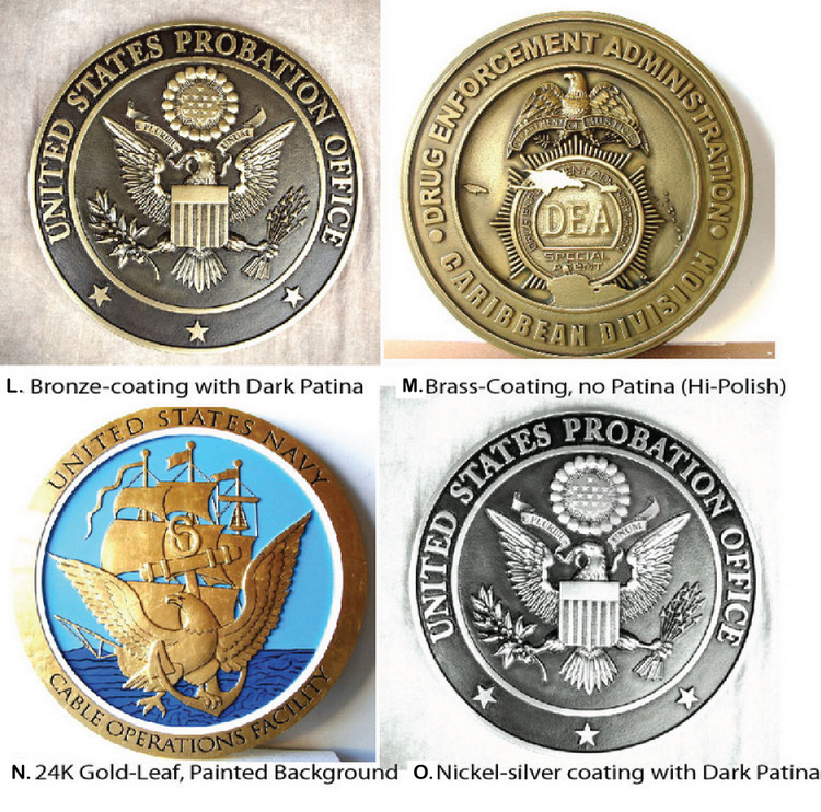 M7000A - Bronze, Brass and Nickel-Silver Coated Plaques