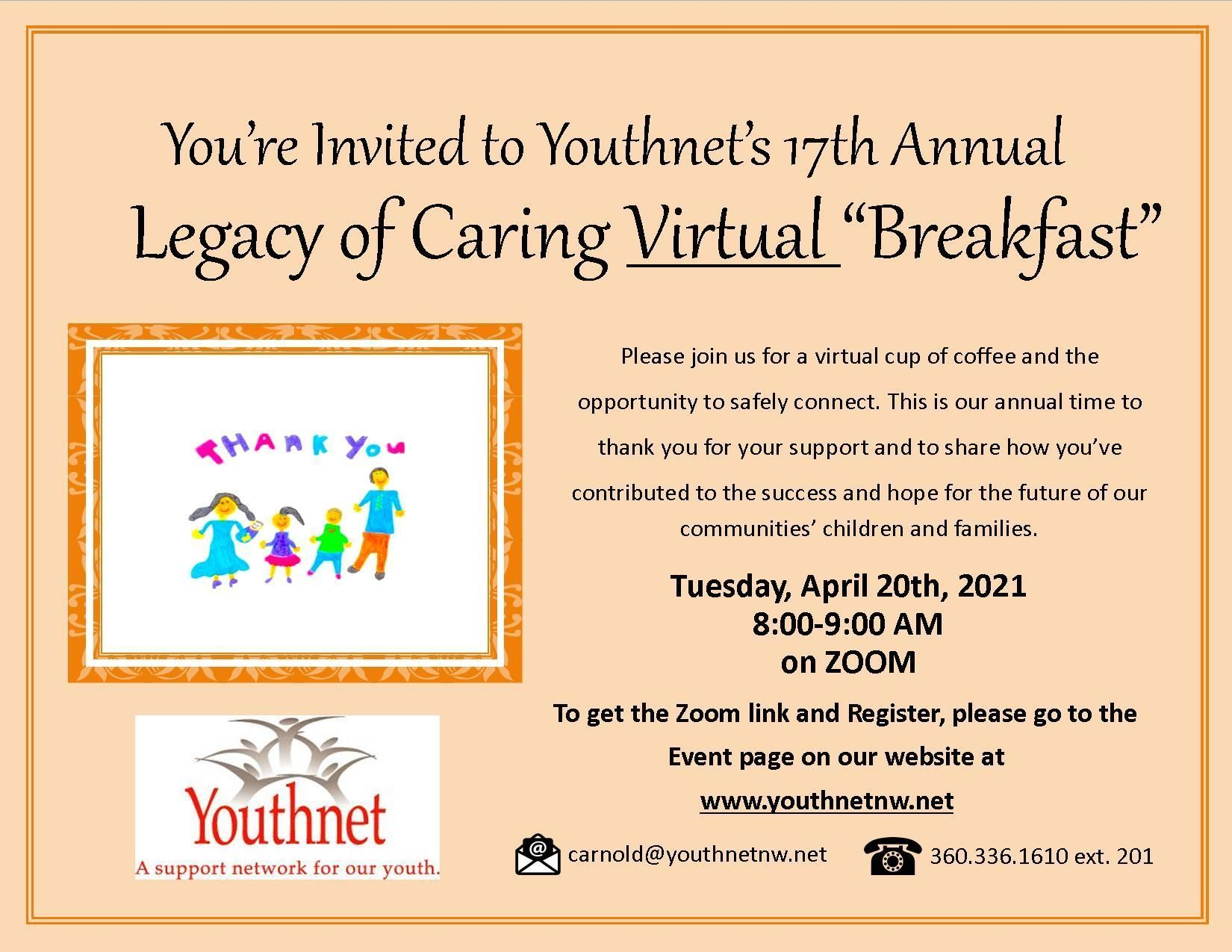 """Legacy of Caring Virtual """"Breakfast"""" Event"""