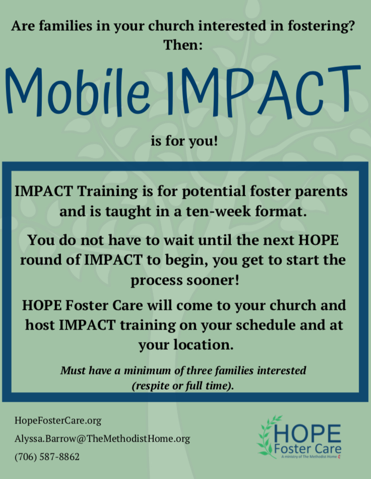 Mobile IMPACT Through HOPE Foster Care
