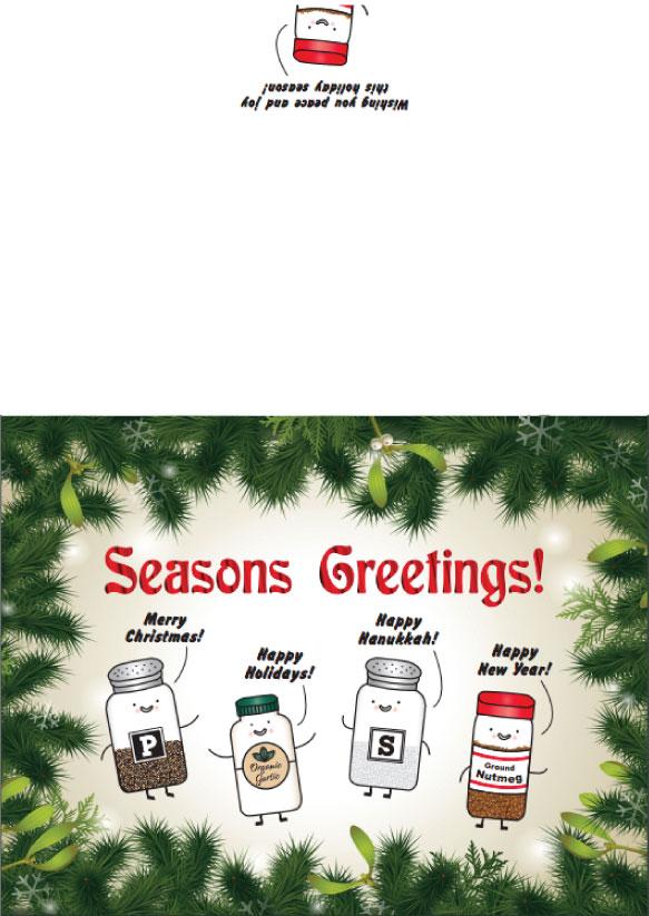 Enhancements Notecard:  Company Holiday Card 2018