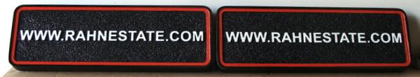 R27067A - Sandblasted HDU Website Address Rider Signs for Rahn Estate Sign