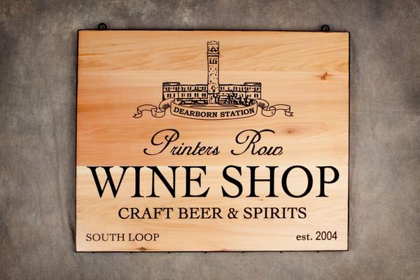 M3604 - Engraved Redwood Wine Shop Sign, Natural Finish (Gallery 26)