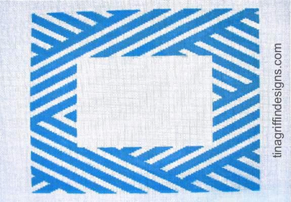 Blue & White Stripe Frame