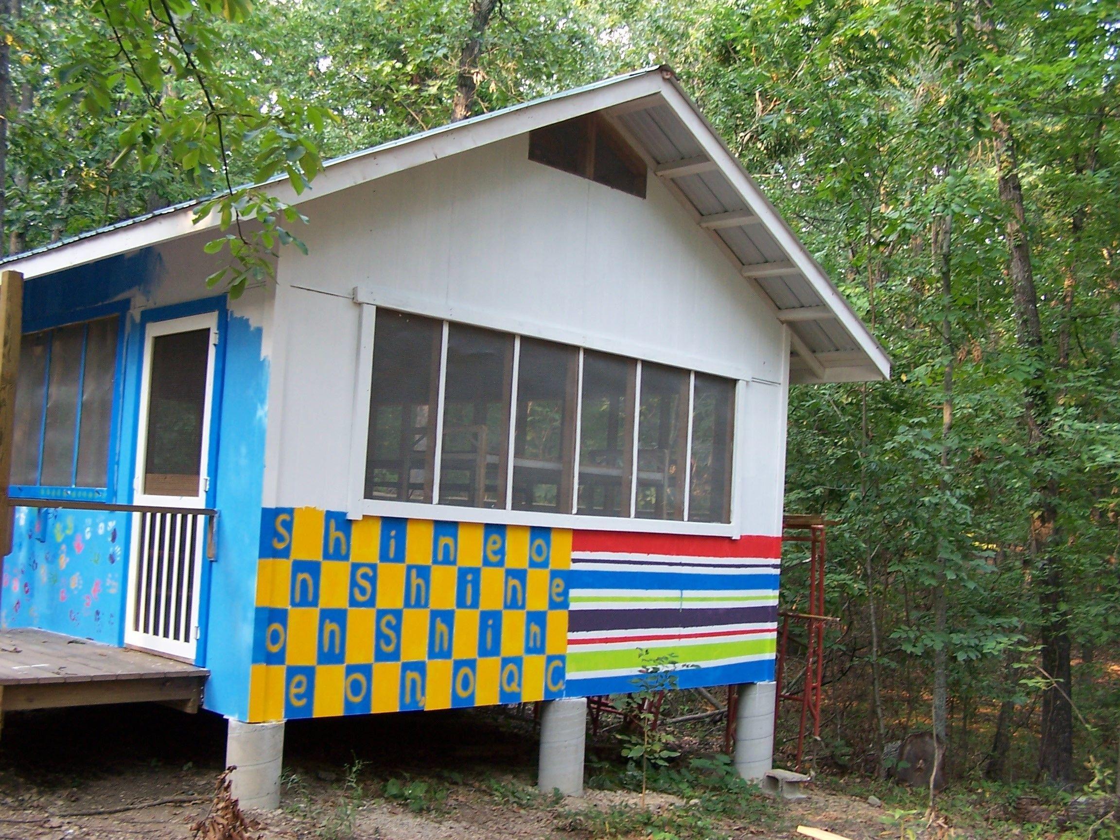 Cabin Mural Reading Shine On