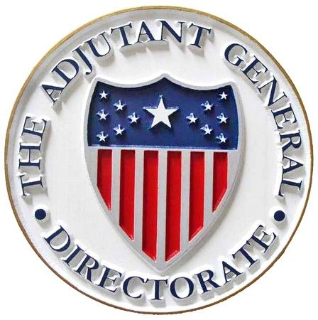 IP-1840 -  Carved Plaque of the Seal of the Adjutant General Directorate, Artist Painted