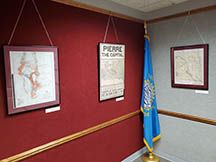 Historical maps displayed in Cultural Heritage Center