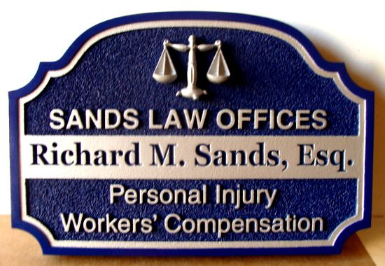 A10059 - Law Office Sign, Personal Injury and Workers Compensation Sign