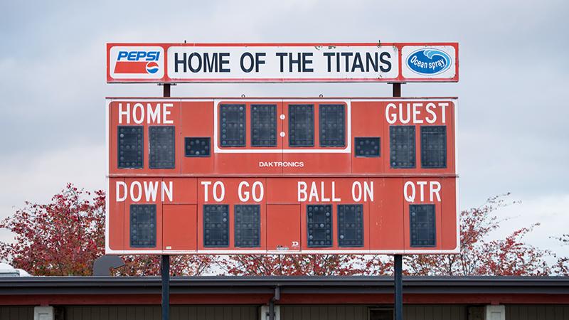 Gunn Stadium Scoreboard