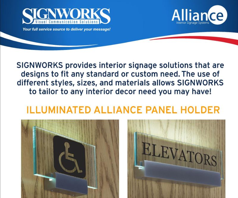 Alliance Interior Sign System