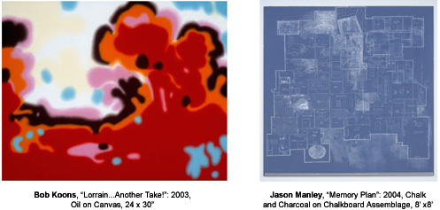 MARCH ART TALK:  Resident Artist Lecture Series, Thursday, March 3, at 7:00 p.m. featuring Bob Koons and Jason Manley.  Always free and open to the public.